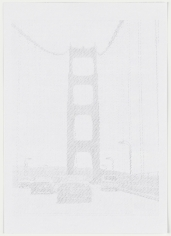 Ewan Gibbs San Francisco Golden Gate Bridge Graphite on paper