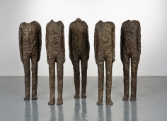 Magdalena Abakanowicz group of five with arms 2014 bronze