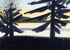 Alex Katz Sunset 1 Oil on canvas