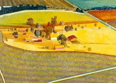 Harold Gregor Illinois Flatscape #66 Acrylic on canvas