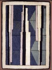 John Storrs Diagonals, 1928 Hand-hooked wool rug