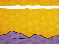 Roy Lichtenstein Purple Range Oil and magna on canvas