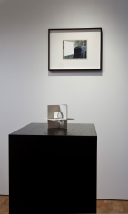 "John Stezaker, ""Tabula Rasa XIII,"" 2006; Jose de Rivera, ""Working Model No. 12,"" 1955."