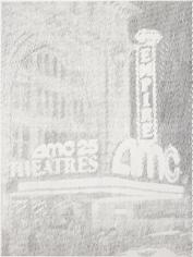 Ewan Gibbs New York AMC Theatre Graphite on paper