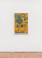 evelyn statsinger dreaming of ochre 1960s oil on canvas