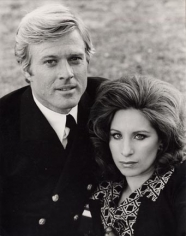 Robert Redford and Barbra Streisand (The Way We Were) Close Up, Los Angeles, 1974, Silver Gelatin Photograph