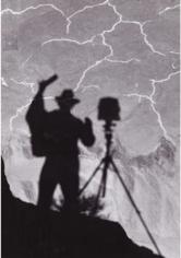Ansel Adams, Shadow Self Portrait, 1958