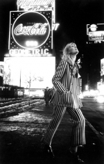 Nico in Times Square, New York, 1968, Silver Gelatin Photograph