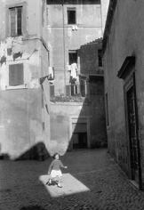 Trastevere, Rome, 1957, 14 x 11 Silver Gelatin Photograph