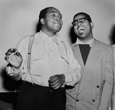"""Charlie """"Bird"""" Parker and Dizzy Gillespie, 1949, 11 x 14 Silver Gelatin Photograph"""