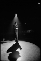 Frank Sinatra, Performing on Stage (with Large Shadow), 20 x 16 Silver Gelatin Photograph