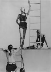 Horst and Models, Swimwear by Lelong, 1929, 14 x 11 Platinum Palladium on 20 x 16 Paper, Ed. 27