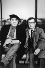 Zero Mostel and Woody Allen, 1976, Silver Gelatin Photograph