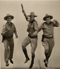 """David Niven, Gary Cooper & Broderick Crawford, """"The Real Thing,"""" 1939, 13-7/8 x 10-15/16 Vintage Silver Gelatin Photograph"""