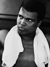 Muhammad Ali (Portrait/Training) with Towel, October, 1970, 20 x 16 Silver Gelatin Photograph, Ed. 150