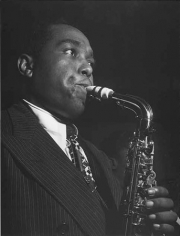 Portrait of Charlie Parker at the Tree Deuces, New York, NY, c. August 1947, 20 x 16 Silver Gelatin Photograph