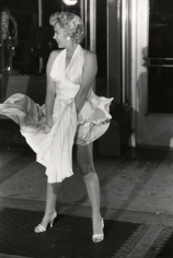 "Marilyn on Air Vent Looking Right, ""Seven Year Itch"" Set, New York, 1955, 17 x 14 Silver Gelatin Photograph"