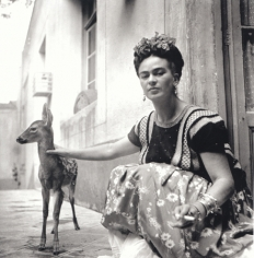 Frida Kahlo with Granizo, c. 1939, 20 x 16 Platinum Photograph, Ed. 30
