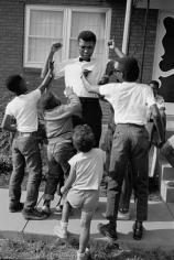 Muhammad Ali (Cassius Clay) with Children, Louisville, Kentucky, 1963, Silver Gelatin Photograph