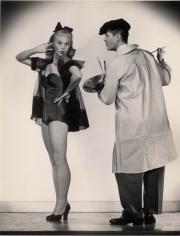 "Joan Caulfield & Bob Cummings ""The Petty Girl,"" 1950, 13-3/4 x 10-11/16 Vintage Silver Gelatin Photograph"