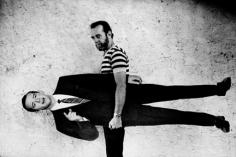 George Carlin Holding Carlin, California, 1981, Silver Gelatin Photograph