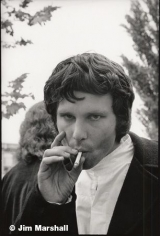 Jim Morrison, Northern California Folk Rock Festival, San Jose, 1968, 14 x 11 Silver Gelatin Photograph