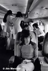 Mick Jagger (on Airplane), 1972, 14 x 11 Silver Gelatin Photograph