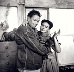 Frida Kahlo With Diego Rivera and Gas Mask, c. 1939, 20 x 16 Platinum Photograph, Ed. 30