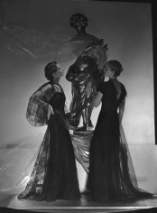 Fashion by Agustabernard & Mainbocher, Statue by Serge Roche, Fischer & Wedderburn, Paris, 1933, 20 x 16 Platinum Palladium on 24 x 20 Paper, Ed. 27