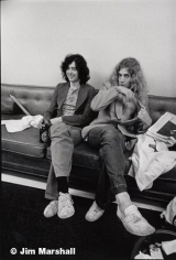 Jimmy Page adn Robert Plant, 1971, 14 x 11 Silver Gelatin Photograph