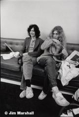 Jimmy Page adn Robert Plant, 1971, 14 x 11 Silver Gelatin Photograph