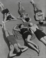 Six Bathers (Including Horst), Swimwear by Patou, 1930, 20 x 16 Platinum Palladium on 24 x 20 Paper, Ed. 27