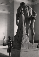 Flirt with Hercules Borghese, Naples, 1961, 11-1/2 x 7-15/16 Vintage Silver Gelatin Photograph