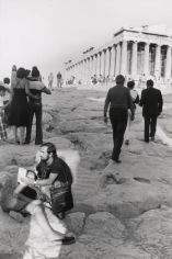 Greece (Couple Sitting at Others Walking Towards Greek Ruins - Vertical), n.d., 14 x 11 Silver Gelatin Photograph