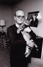 Truman Capote with cat, Holcomb, Kansas, 1964, Silver Gelatin Photograph