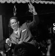 Dizzy Gillespie, New York City, 1955, 14 x 11 Silver Gelatin Photograph
