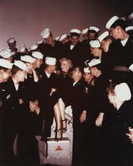 Marilyn Monroe with Sailors (56-76212829), 1955, 14 x 11 Color Photograph