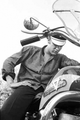 """Elvis On His Harley,"" Backyard at his home 1034 Audubon Drive, Memphis, TN, July 4 1956"