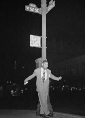 Portrait of Dizzy Gillespie, 52nd Street, New York, NY, c. 1946-1948, 20 x 16 Silver Gelatin Photograph