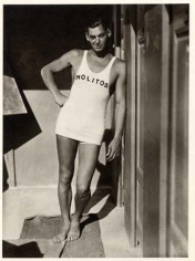 Johnny Weissmuller, 1930, 9-13/16 x 7-1/8 Silver Gelatin Photograph on 14 x 11 Paper, Ed. 27