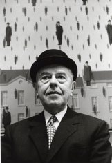 Rene Magritte, MOMA, New York, 1965, Silver Gelatin Photograph