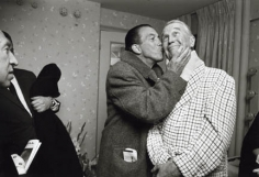 Ed Sullivan Kissing Maurice Chevalier, New York, 1963, Silver Gelatin Photograph