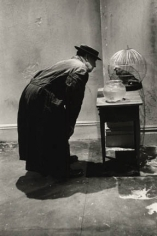 Buster Keaton, Fish & Parrot, New York, 1964, Silver Gelatin Photograph