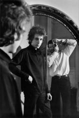 Dylan & Kramer in Mirror, NYC, 1965, Silver Gelatin Photograph