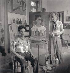 """Frida Kahlo Painting """"Me and My Parrots"""", c. 1939, 20 x 16 Silver Gelatin Photograph, Ed. 30"""