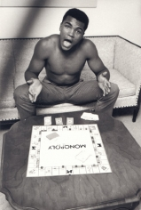 Muhammad Ali (Cassius Clay) Playing Monopoly, Louisville, Kentucky, 1963, Silver Gelatin Photograph