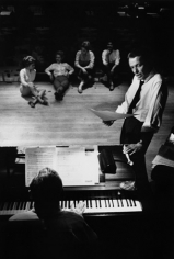 Frank Sinatra at the Sands Hotel, rehearsing for the evening show, Las Vegas, 1960