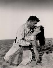 "Burt Lancaster & Jody Lawrence, ""Ten Tall Men,"" 1951, 13-5/16 x 10-1/2 Vintage Silver Gelatin Photograph"