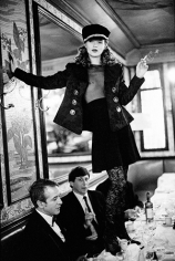 Kate Moss at Cafe Lipp (Vertical), Pairs, Vogue Italia, 1993