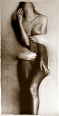 Osmosis, Untitled #0305655, 40 x 20 Silver Gelatin Photograph, Copper, and Glass, Ed. 10